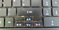 запыленная клавиатура